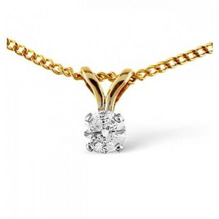 9K Gold 0.15ct Diamond Pendant, Z1367